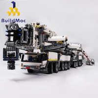Construire une nouvelle grue Mobile de puissance construire ltm11200 RC Kits de moteur technique Liebherr bloque briques cadeau d'anniversaire C104