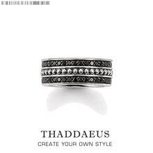 Кольцо черное, Томас Стиль украшения для души хорошее украшение для женщин, весна Ts подарок из 925 пробы серебра, Супер предложения