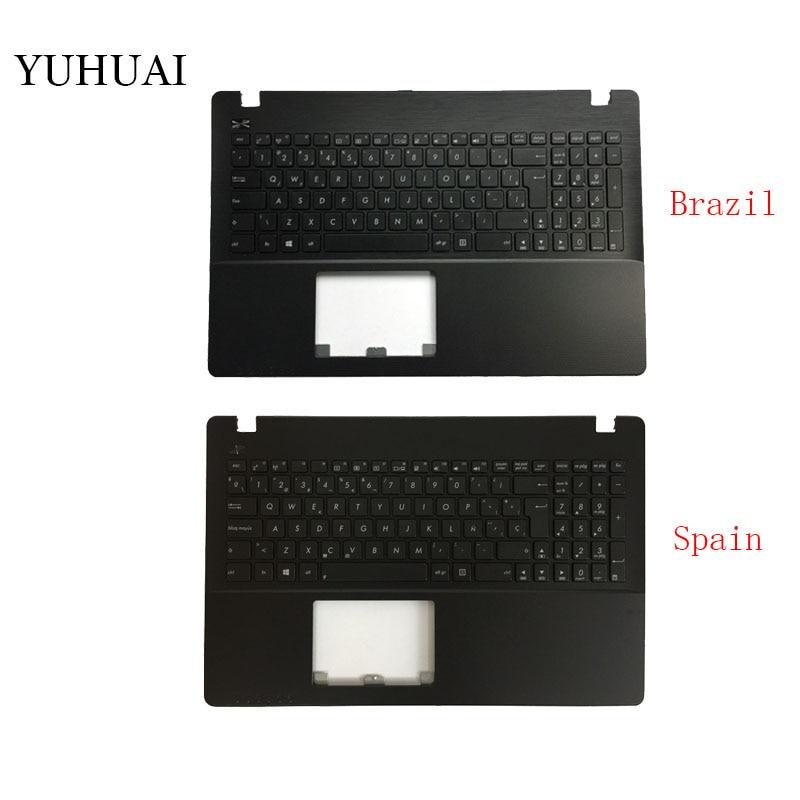 New Brazil/Spain Laptop Keyboard for ASUS X550 K550V X550C X550VC X550J X550V A550L Y581C F550 R510L Palmrest Cover new br laptop keyboard for asus x550 k550v x550c x550vc a550l y581c f550 r510l x550j x550v brazil shell palmrest cover