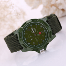 New Famous Brand Men Watch Army Soldier Military Canvas Strap Fabric Analog Quartz Wrist Watches Outdoor Sport Wristwatches