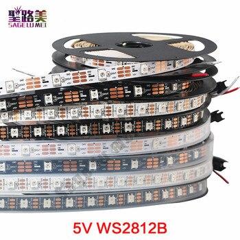 1 M/5 M DC5V individualmente direccionable ws2812b llevó la tira ws2811ic incorporado 30/60/144 píxeles, smart RGB LED cinta de luz IP67