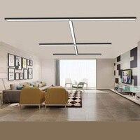 SVITZ светодио дный офисные полосы освещения лампы офисные висит линия огни Mall офисное здание Кабинет Простой rectanglar потолочный светильник