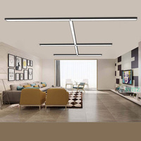 SVITZ LED Office lighting Strip Lamps Office Hanging Line Lights Mall Office Building Study Room Simple rectanglar Ceiling Light