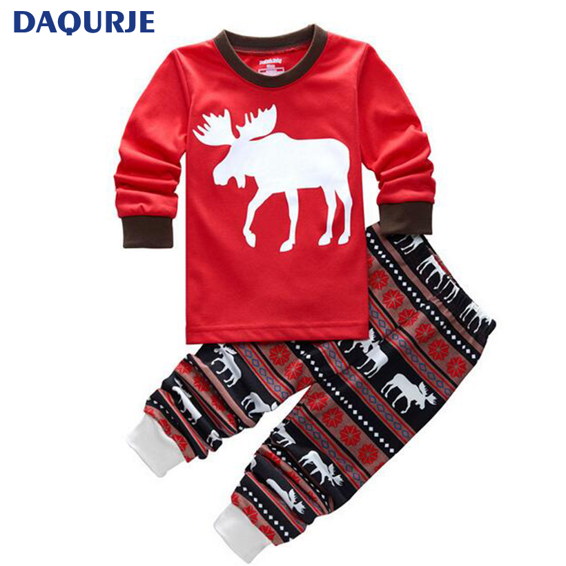 Christmas 2017 New Year Costumes For Kids Girls Boys Clothes Long Sleeve 2PCS Clothing Sets Christmas Pajamas Children Clothing 2015 new arrive super league christmas outfit pajamas for boys kids children suit st 004