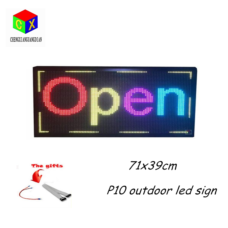 WiFi LED Sign Outdoor LED Scrolling Sign Full Color 28 x 15 Resolution P10 Advertising Tool