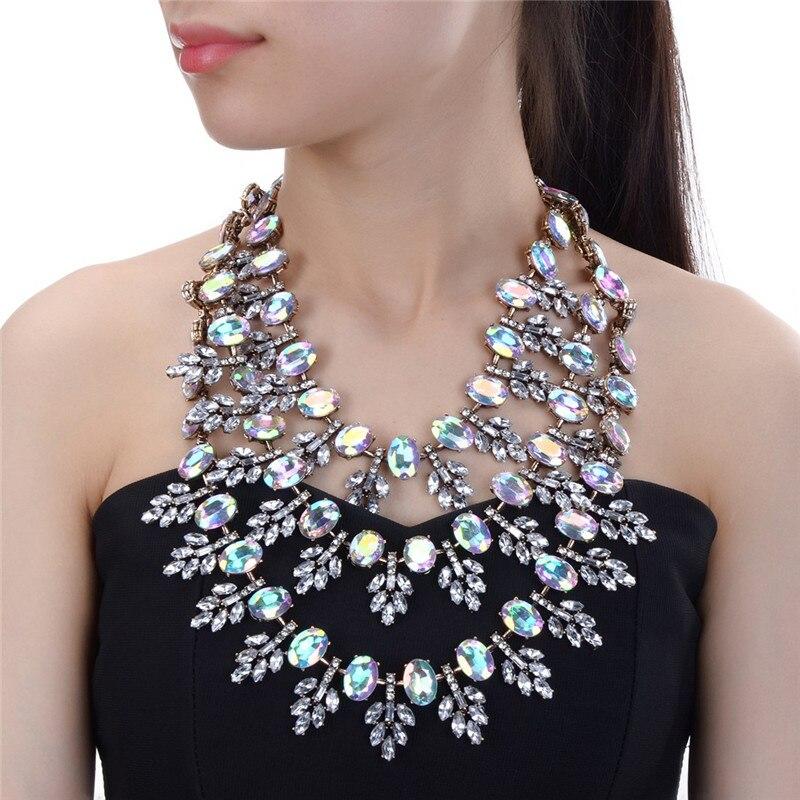 Cristal Fleur Colliers de Foulard de Cru Collier Perle Pendentifs Déclaration de La Chaîne Colliers Femmes Bijoux Cadeaux Drop Ship