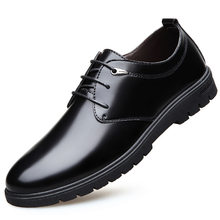 Men's Leather Shoes Men Oxfords Shoes Casual Business Office Formal Men Shoes Lace Up Pointed Toe Dress Wedding Party Shoes(China)