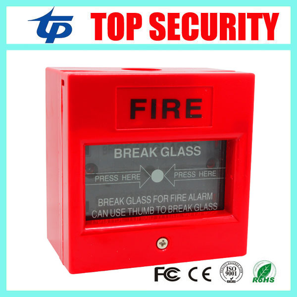 Red Color Fire Emergency Switch Emergency Button Glass Broken Release Emergency Door Release Button, Access Control Push Button dhl free shipping glass broken exit button emergency door release for fire alam system access control system emergency switch