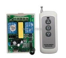 AC 220V 2CH RF Wireless Remote Control Switch 1X Transmitter +1 X Receiver tubular motor garage door projection screen shutters