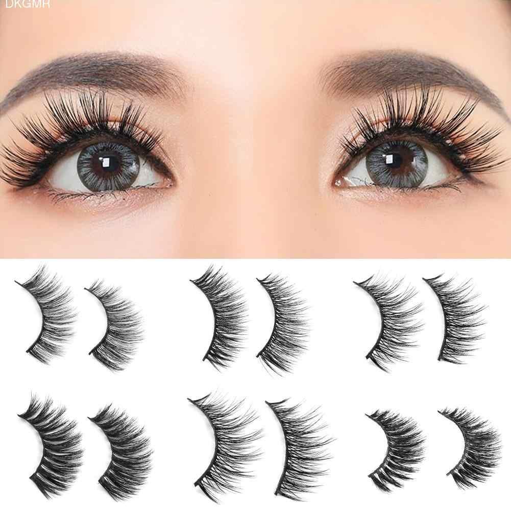 dce12a84080 1 Pair Real 3D Mink Lashes Soft Natural Handmade False Eyelashes Makeup  Long Fake Eye Lashes