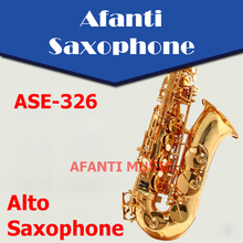 Afanti Music Eb tone / Brass body / Gold finish Alto Saxophone (ASE-326)