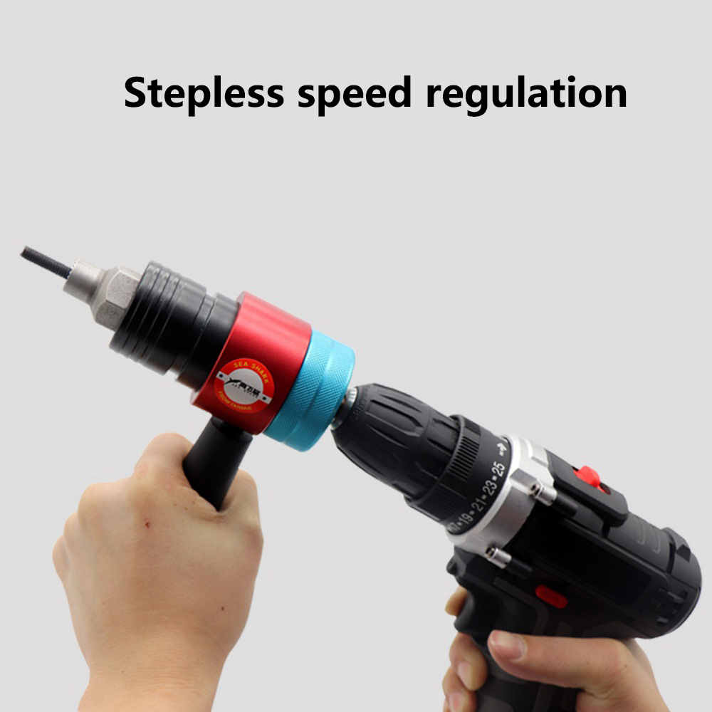 Haifei Shark 12V Electric Pull Gun Clutch Automatic Stop Charging Pull Gun Electric Rivet Nut Gun Head Riveting Gun Ram Gun