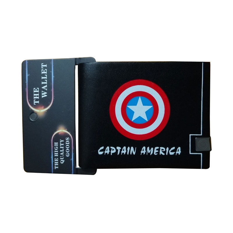 65 10 De Réductionsuper Hero Captain America Portefeuilles Avengers Anime Superman Batman Deadpool Logo Imprimer Bourse Titulaire De La Carte Sac