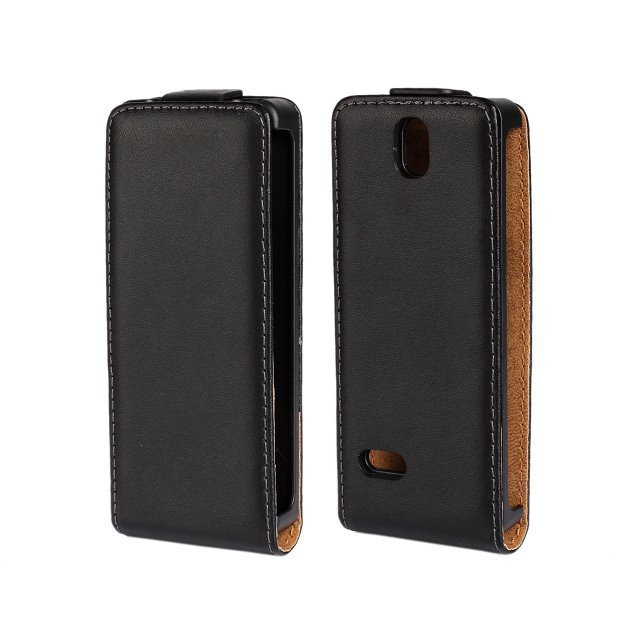 For Nokia 515 High Quality Black Genuine Leather Flip Cover Case For Nokia Lumia 515 N515 with Magnetic Closure Free