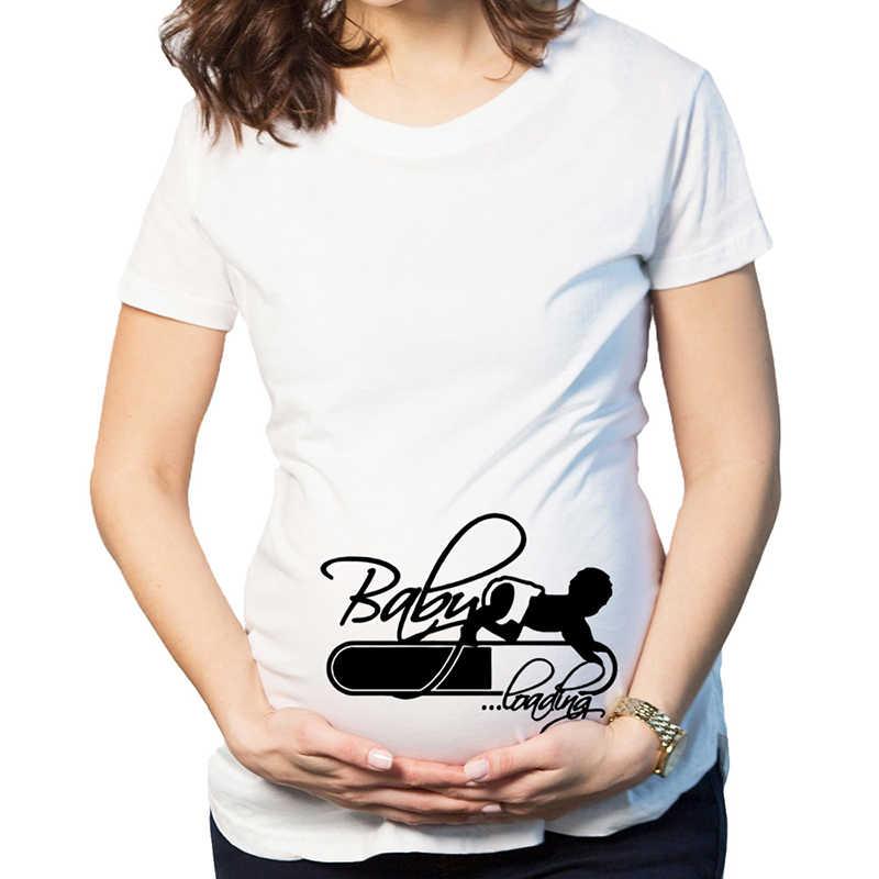 Рождественская Одежда для беременных футболки топы летние футболки для беременных футболки с короткими рукавами Повседневная Одежда для беременных Забавные футболки для беременных