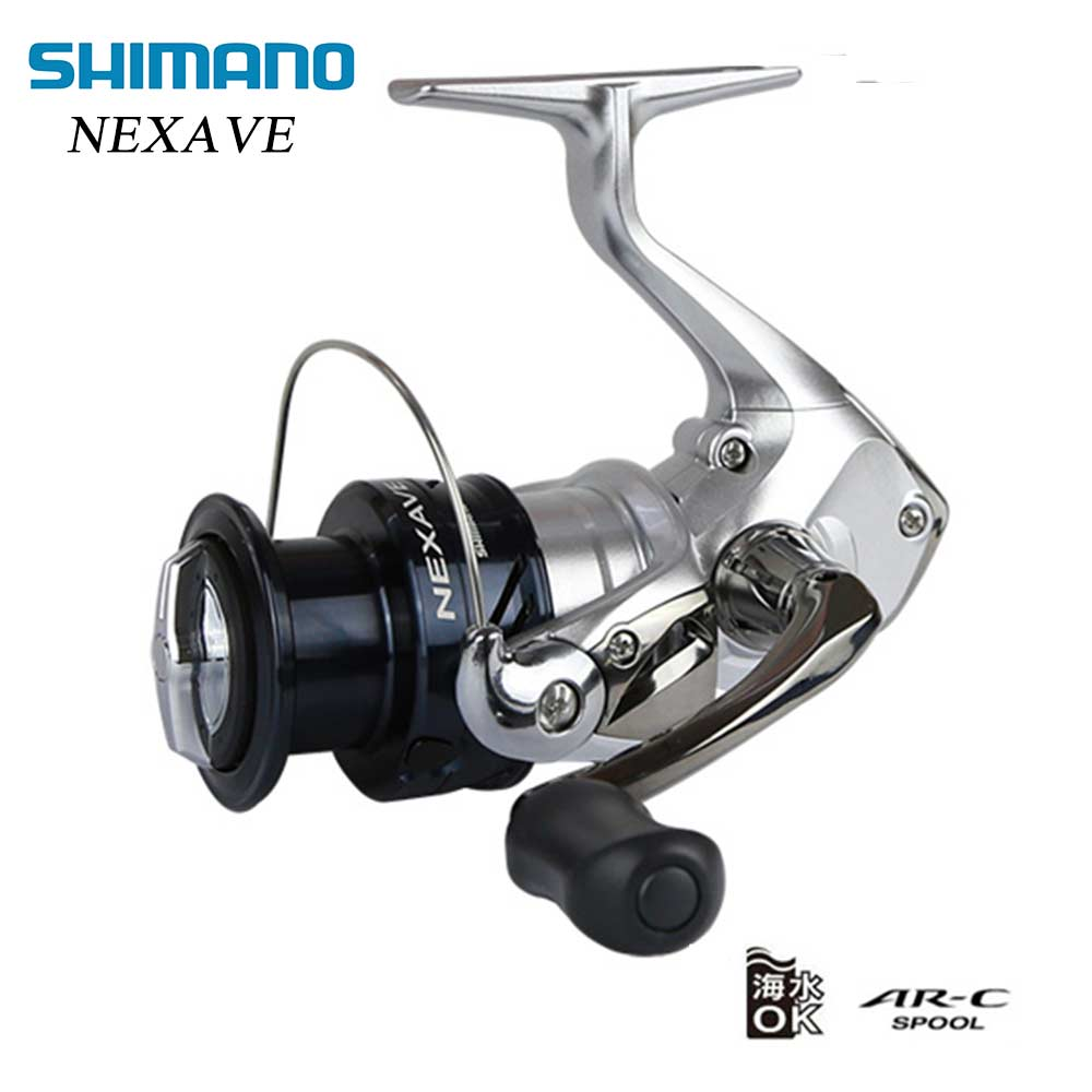 SHIMANO NEXAVE 1000/2500/C3000/4000 Spinning Reel Fishing avec AR-C Bobine Convient pour L'eau de Mer Spinning De Pêche bobine