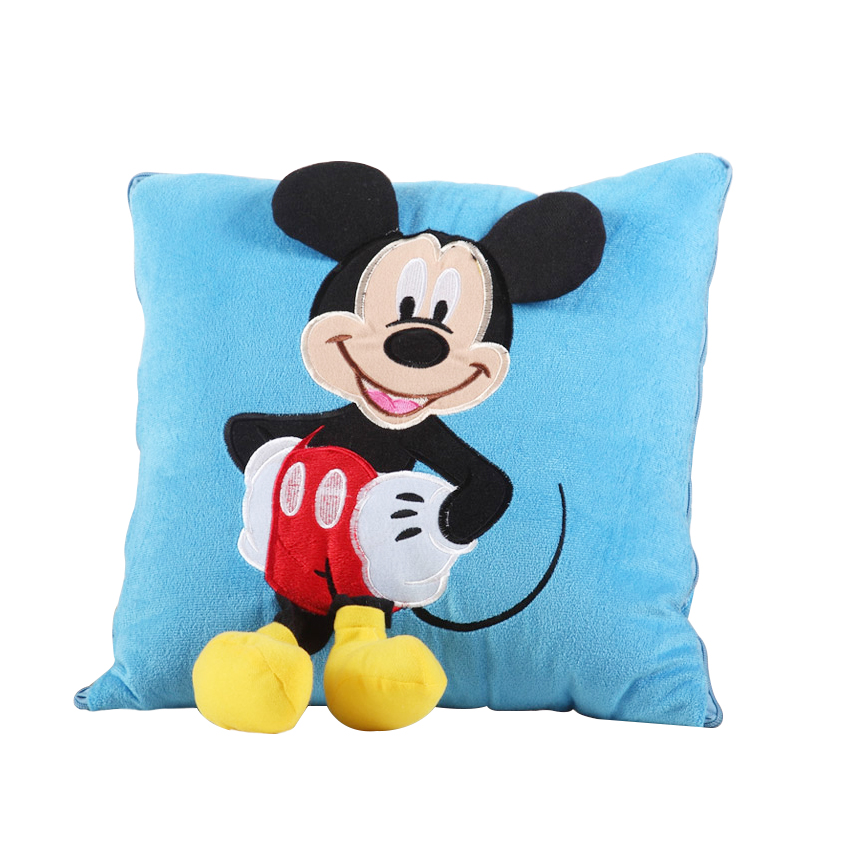 1pc 33cm*30cm Mickey Mouse and Minnie plush Pillow Cushion,Cartoon Stuffed Pillow Car Cushion Soft Toy For Gift 2015 new 1 piece 28cm 30cm mini lovely mickey mouse and minnie mouse stuffed soft plush toys christmas gifts