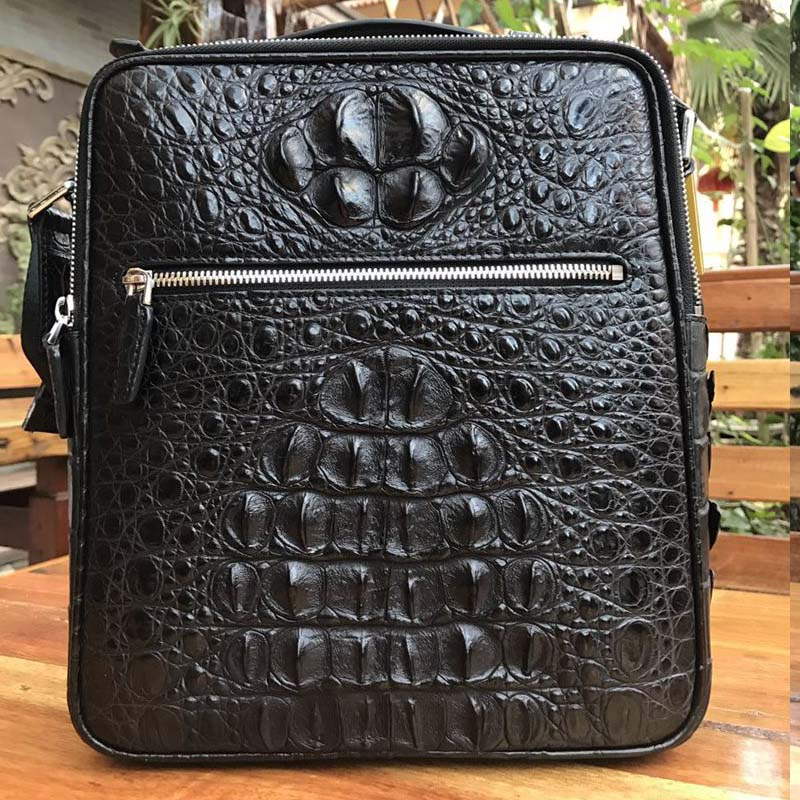 yongliang New men's alligator skin, big skull men handbag, single shoulder cross men bag, crocodile leather, men's bag yongliang 2017 new crocodile leather belly single shoulder men handbag crocodile leather crossbody fashion all match men bag