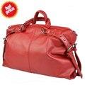 Женщины сумочка дизайнерские сумки большие тотализатор сумочка с полоска заклёпка винтажный полиуретан кожа женщины сумка-мессенджер