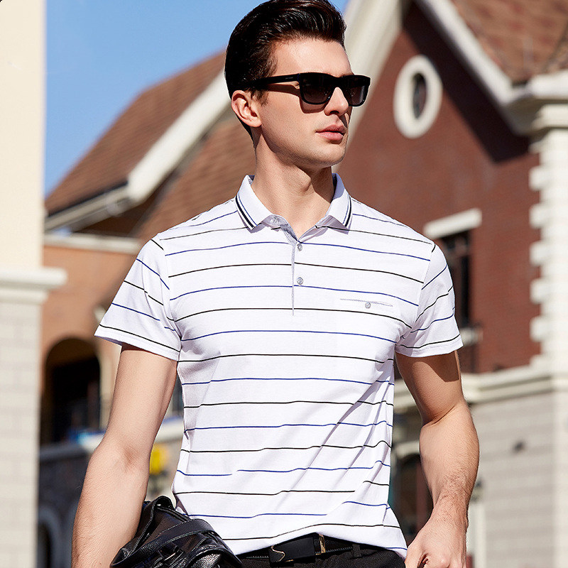 FGKKS Business Brand Mens   Polo   Shirts 2019 Summer Autumn Male Striped Slim Fit   Polo   Shirt Men's Short Sleeve   Polo   Shirts Tee Top