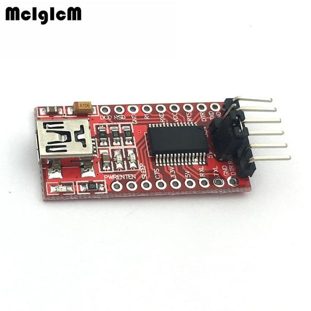 MCIGICM FT232RL FTDI USB to TTL Serial Adapter Module Mini Port 3.3V 5V Hot sale Free Shipping
