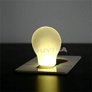Portable LED Card Pocket Light Bulb Lamp Wallet Size Convenient Camping Mini Lamp Random