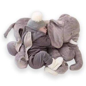 Image 3 - 40cm/60cm Large Elephant Plush Doll Toy Pillow Infant Soft For Sleeping Stuffed  Plush Toys Elephant Figure Kids Doll Toys gift