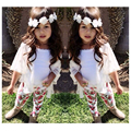 New Baby Girl Clothes Summer Fashion Girls Summer Sets 3pcs Tops+Vest+Leggings Enfants Vetements Filles Floral Girls Sets