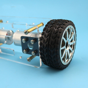 Image 5 - 2WD DIY Robot Bộ Acrylic Tấm Sườn Xe Ô Tô Khung Cân Bằng Tự Cân Bằng Mini 2 Ổ 2 Bánh Xe 176*65 Mm Công Nghệ Phát Minh Đồ Chơi