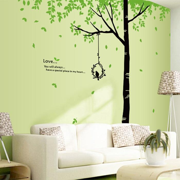 1 set 78*68 Inch 2016 Art Home Living Room Wall Decorative Tree Wall ...