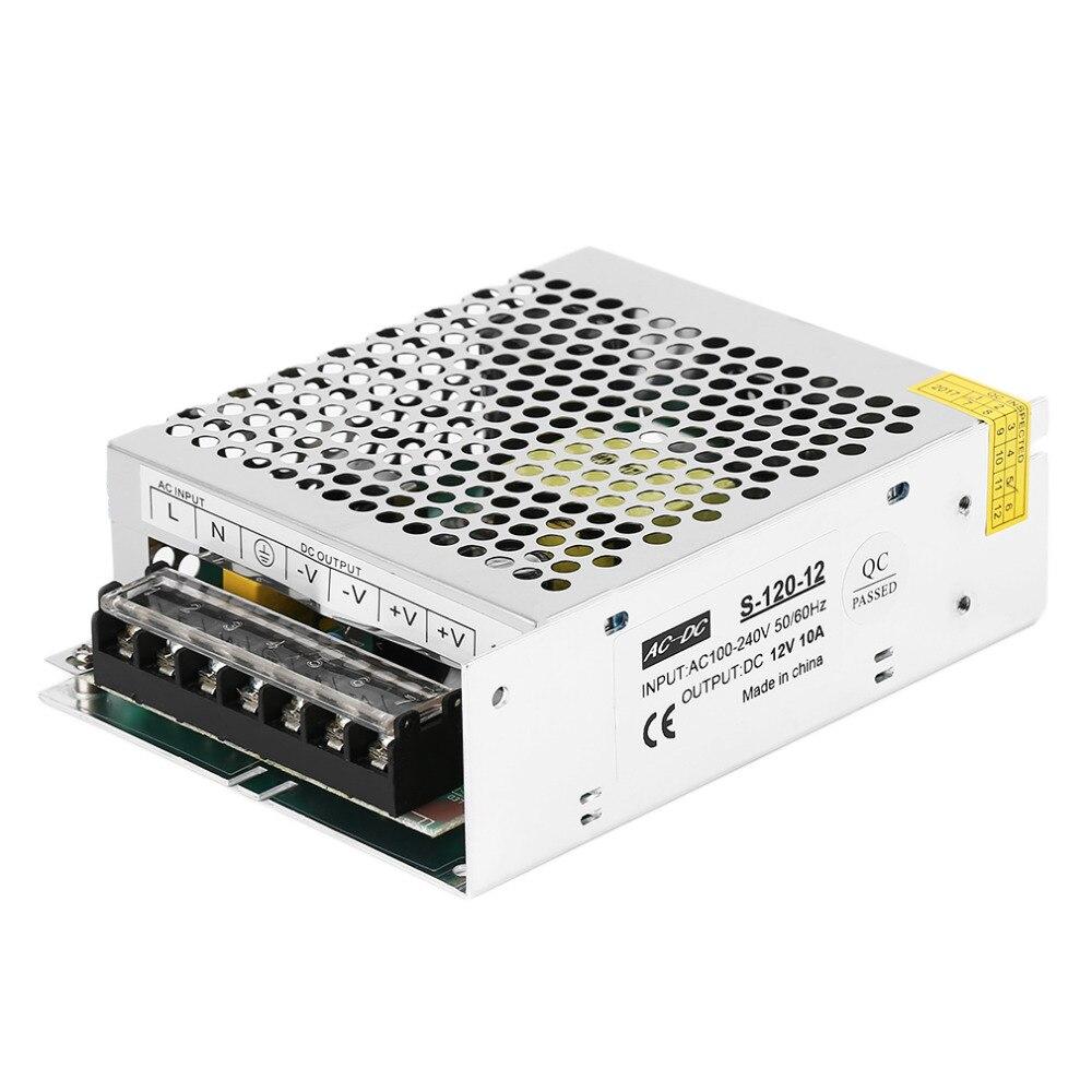 120 W dc12v 10a pequeño tamaño solo salida Fuentes de alimentación conmutada transformador para LED Luz de tira 3D impresora