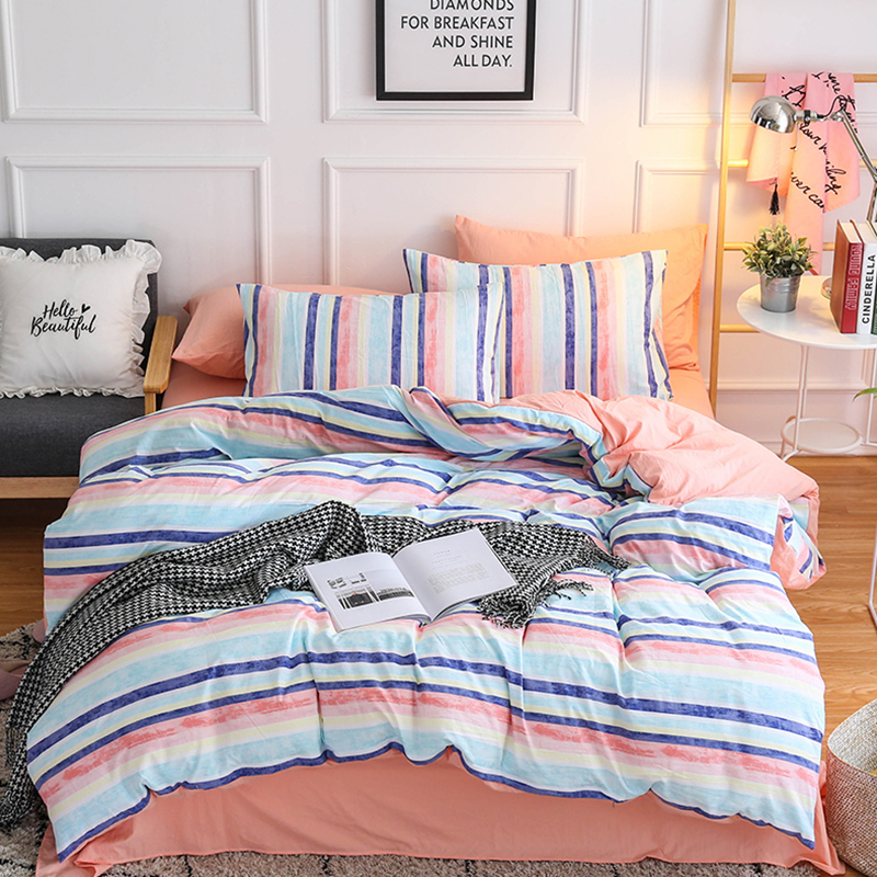 3/4pcs stripe simple style bedding sets duvet cover comfortable quilt cover pillow cases twin full queen king size bedclothes 3/4pcs stripe simple style bedding sets duvet cover comfortable quilt cover pillow cases twin full queen king size bedclothes