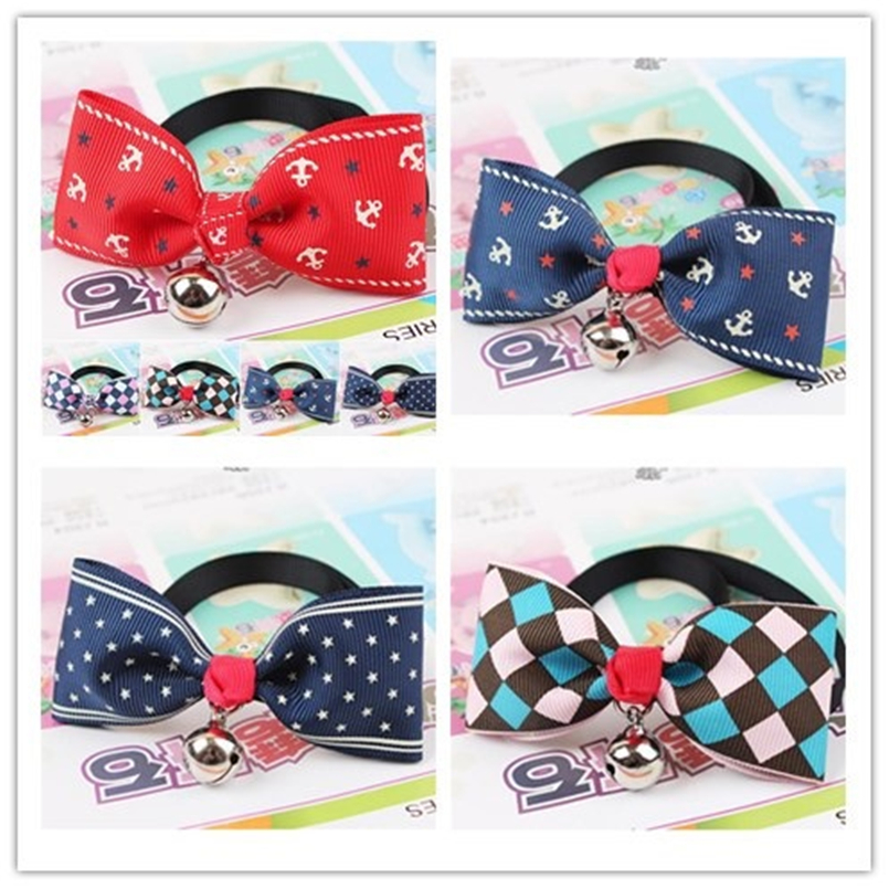Fashion cute pet butterfly bow tie dog necktie with bell cats tie pets collar pet grooming supplies free ship