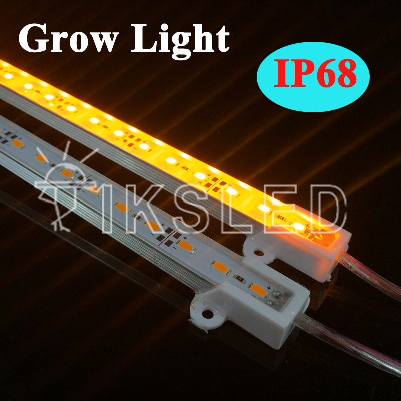 4pcs SMD5730 Full Spectrum Led Grow Light Led Bar Rigid Strip IP68 Waterproof Grow Light For Aquarium Greenhouse Hydroponic Plan