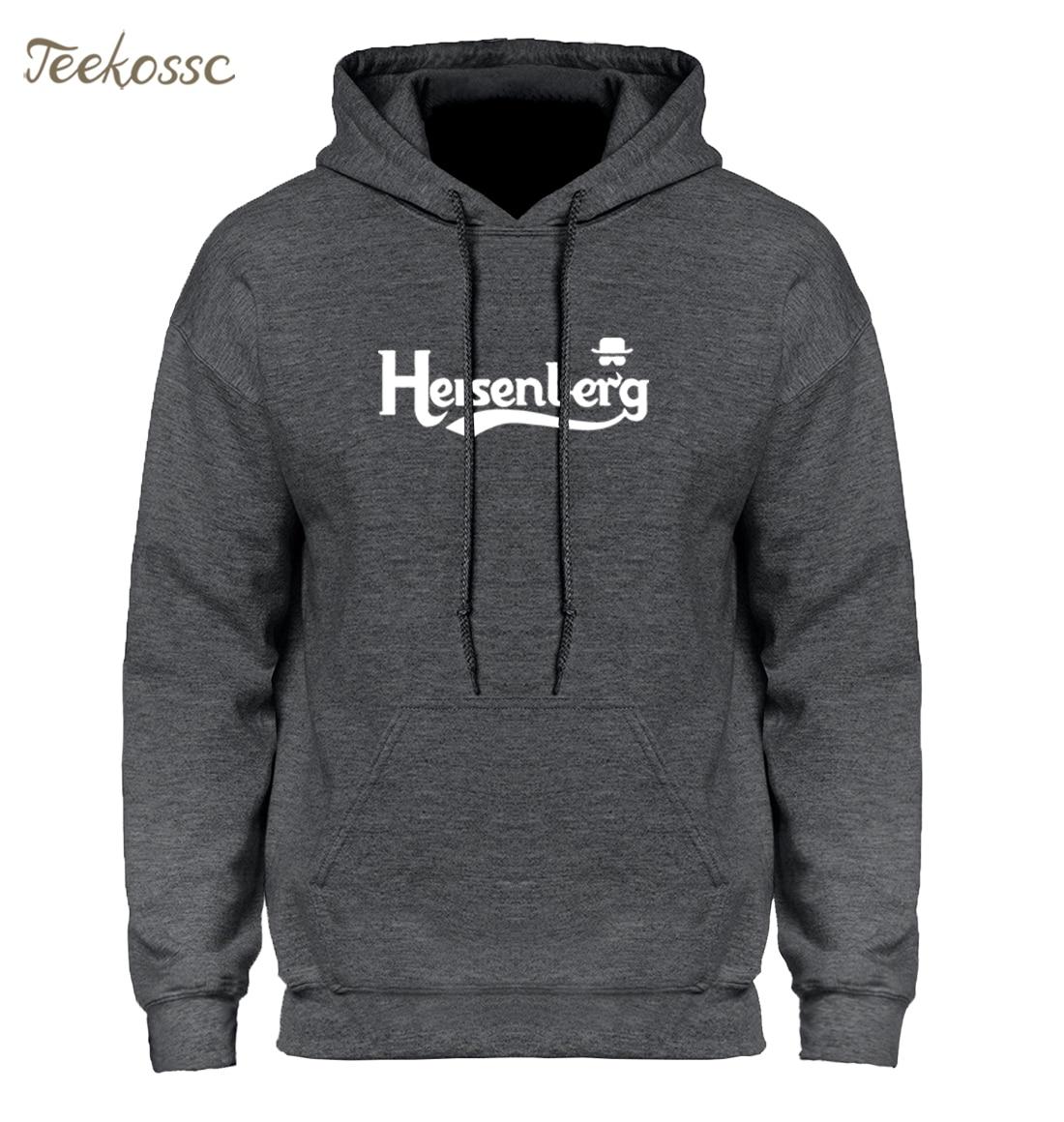 Breaking Bad Heisenberg Hoodie Men Clothes 2018 Winter Autumn Mens Hoodies Sweatshirt Dark Gray Black White Fleece Warm Hoody