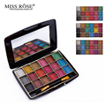 2017 MISS ROSE Cosmetic Makeup 18 Color Metallic Glitter Eyeshadow Palette Highlighter Eye Shadow Make Up With Brush &Mirror