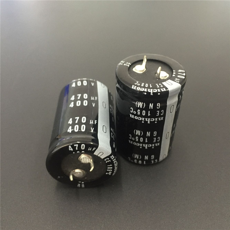 2pcs 470uF 400V NICHICON GN Series 30x45mm High Quality 400V470uF Snap-in  PSU Aluminum Electrolytic Capacitor