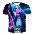 2016 verão nova moda manga Curta impressão 3D t camisa do esquadrão Suicida Harley Quinn coringa Americano animação Engraçado t-shirt ocasional