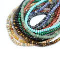 "Pick style 1Strand 16""(78pcs)Natural stone Faceted Rondelle Beads 8mm*5mm (w03051-W03065)Free Shipping"