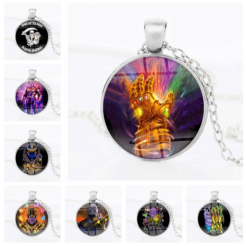 Avengers Explosion Marvel Movie Time Time Gem Necklace Pendant Saros Absolute Thanos
