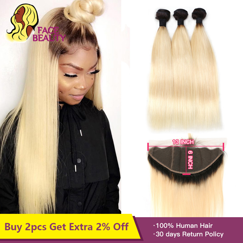 3/4 Bundles With Closure Hair Extensions & Wigs Useful Ombre Bundles With Frontal Honey Peruvian Blonde Bundles With Closure 13*4 Remy Straight Hair Bundles With Frontal Free Shipping Cheap Sales
