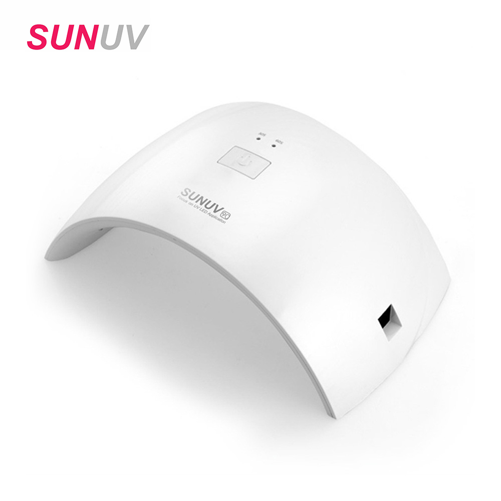 SUNUV SUN9c 24w LED Lamp Nail Dryer Gel Nail Polish Dryer UV Nail Lamp for Women Use for All Gels Uv Lamp for Gel Nail Machine s2 shovels ray bead 96w led flashing police strobe intimidator windshield dash light