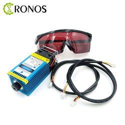5.5w 450nm Focusing Blue Laser Module Laser Engraving And Cutting TTL Module 5500mw Laser Can Engrave On Wood
