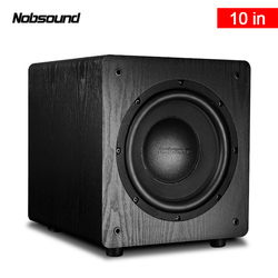 Nobsound SW-100 Wood 250W 10 inch Active Subwoofer Column Computer Speakers MP3