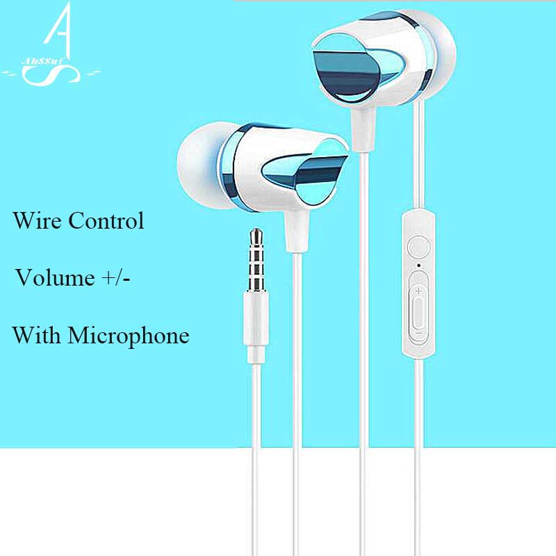 AhSSuf Earphones In-ear With Microphone Sport Sluchatka Na Mobil Music Consumer Electronics Stereo Auriculares for MP3 phone