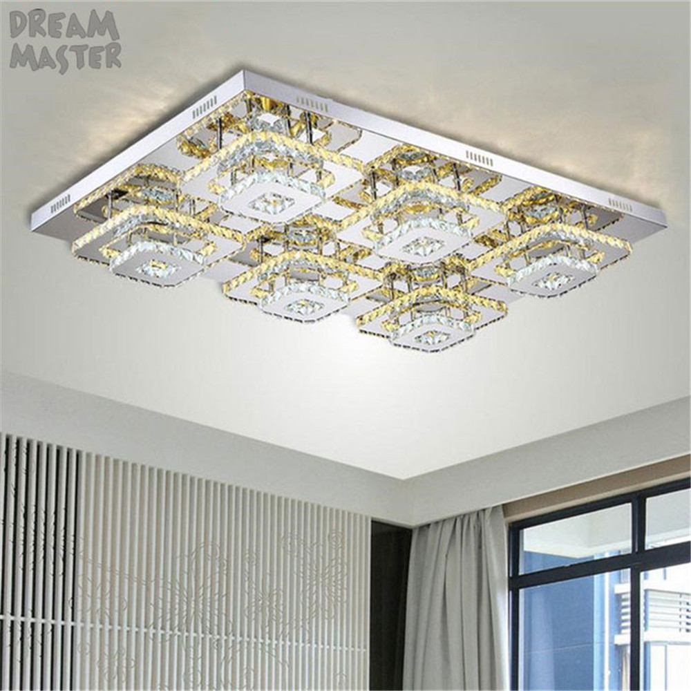 Modern Crystal LED ceiling chandeliers lights Fixture Indoor Lamp lamparas de techo Lustres led Lamp bed living room hall lamps-in Chandeliers from Lights & Lighting    1
