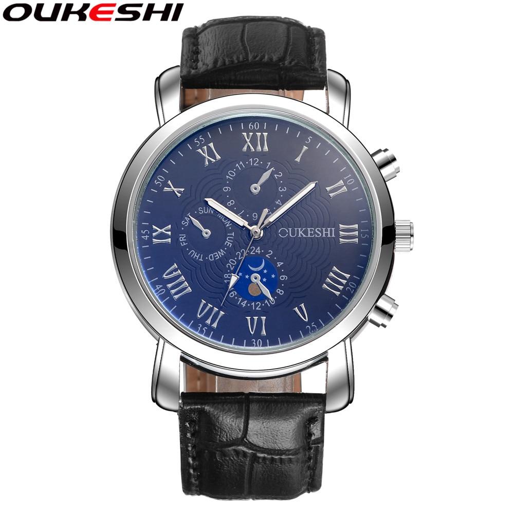 OUKESHI Merk Luxe Mannen Quartz Horloge Mode Mannelijke Zaken - Herenhorloges