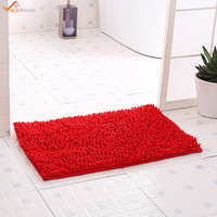 40 60CM Anti Slip Soft Shaggy Bedroom Rugs Bath Doormat Carpet Bath Mat Chenille
