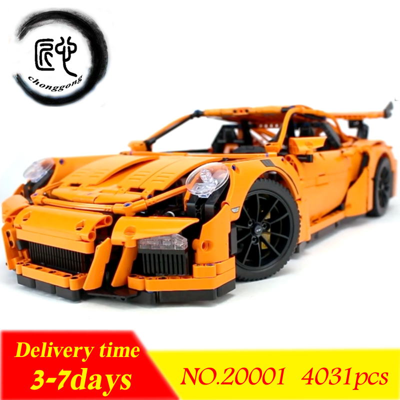 The New 20001 technic series Race Car Model Building Kits Blocks Bricks Compatible 42056 Bricks Boys Gifts Educational DIY Toys