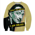 New Fashion Mens/Womens Salvador Dali On Drugs 3D Print Casual Sweatshirt S M L XL XXL 3XL 4XL 5XL
